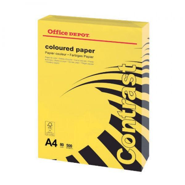 Fénymásolópapír A4 80g sárga (1 csomag)